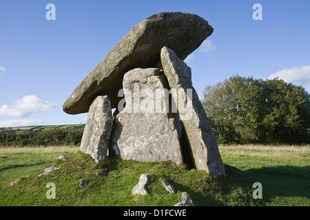 Trevethy Quoit, Bodmin Moor, Cornwall, England, United Kingdom, Europe - Stock Photo