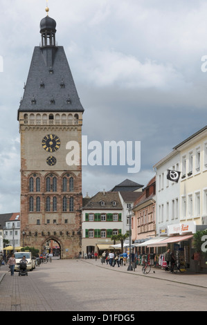 The Alte Portal main gate, Speyer, Rhineland Palatinate, Germany, Europe - Stock Photo