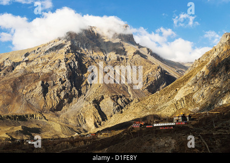 Muktinath Valley, Annapurna Conservation Area, Mustang District, Dhawalagiri, Western Region (Pashchimanchal), Nepal - Stock Photo
