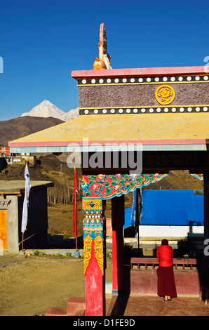 Muktinath Gumba, Annapurna Conservation Area, Mustang District, Dhawalagiri (Dhaulagiri), Western Region (Pashchimanchal), - Stock Photo