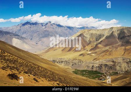 Muktinath Valley and Muktinath Himal, Annapurna Conservation Area, Dhawalagiri, Western Region (Pashchimanchal), - Stock Photo
