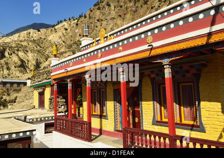 Gomba, Marpha, Annapurna Conservation Area, Mustang District, Dhawalagiri (Dhaulagiri), Western Region (Pashchimanchal), - Stock Photo