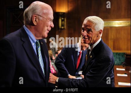 Dec. 19, 2012 - Washington, District of Columbia, U.S. - Former Florida Governor CHARLIE CRIST meets with Senator - Stock Photo
