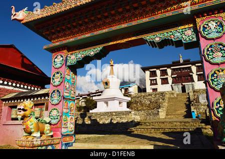 Dingboche Monastery, Sagarmatha National Park, Solukhumbu District, Sagarmatha, Eastern Region (Purwanchal), Nepal, - Stock Photo