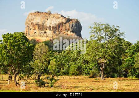 Sigiriya (Lion Rock), UNESCO World Heritage Site, Sri Lanka, Asia - Stock Photo