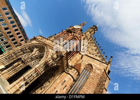 The Frauenkirche (Church of Ladies) in Nuremberg, Bavaria, Germany. - Stock Photo