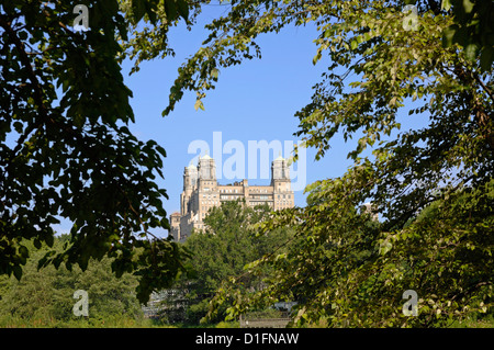 Central Park and Buildings, New York City, New York - Stock Photo
