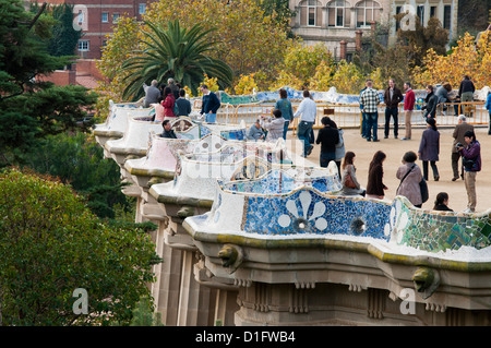 Guell Park (Parc Guell), Unesco World Heritage Site, Barcelona, Catalunya (Catalonia) (Cataluna), Spain, Europe - Stock Photo