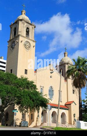 Cathedral, Corpus Christi, Texas, United States of America, North America - Stock Photo