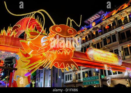 Chinese New Year Celebrations, New Bridge Road, Chinatown, Singapore, Southeast Asia, Asia - Stock Photo