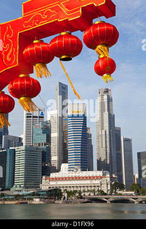 City kkyline and Financial district, Singapore, Southeast Asia, Asia - Stock Photo