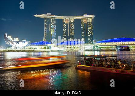 Marina Bay Sands, Marina Bay, Singapore, Southeast Asia, Asia - Stock Photo