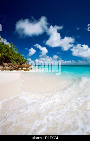 Tropical beach, Seychelles, Indian Ocean, Africa - Stock Photo