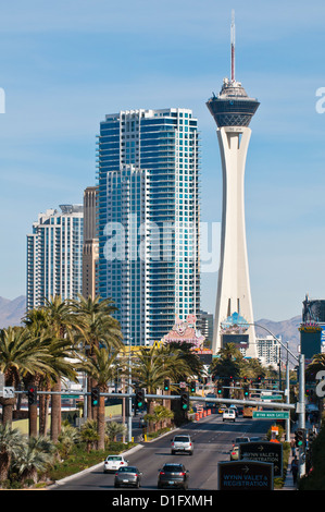 Stratosphere Casino, Hotel and Tower, Las Vegas, Nevada, United States of America, North America - Stock Photo