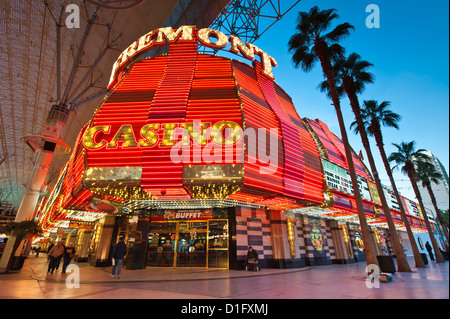 Fremont Casino and the Fremont Street Experience, Las Vegas, Nevada, United States of America, North America - Stock Photo