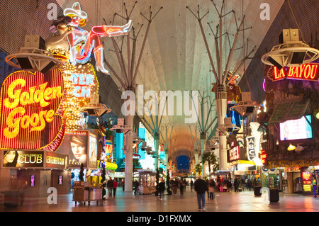 Fremont Street Experience, Las Vegas, Nevada, United States of America, North America - Stock Photo