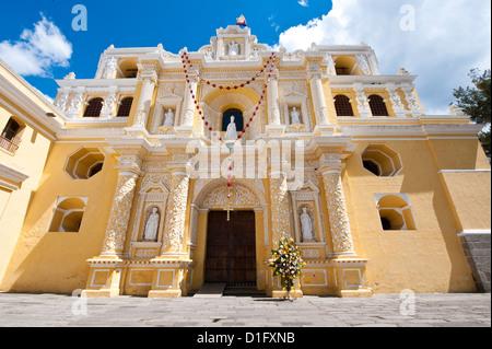Nuestra Senora de la Merced Cathedral, Antigua, UNESCO World Heritage Site, Guatemala, Central America - Stock Photo
