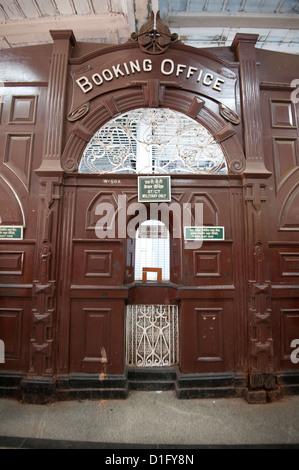 Booking Office at Howrah Railway Station, Howrah, Kolkata (Calcutta), West Bengal, India, Asia - Stock Photo