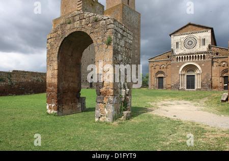 St.. Peter Church, Tuscania, Viterbo, Lazio, Italy, Europe - Stock Photo