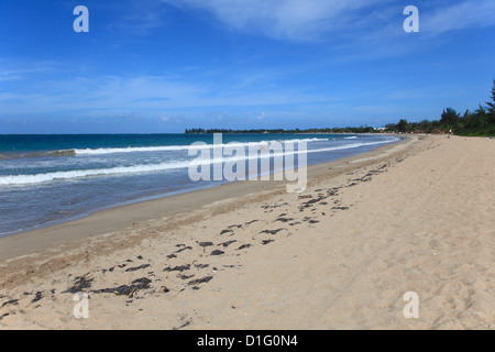 Beach, Isla Verde, San Juan, Puerto Rico, West Indies, Caribbean, United States of America, Central America - Stock Photo