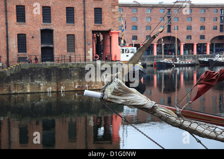 Albert Dock, UNESCO World Heritage Site, Liverpool, Merseyside, England, United Kingdom, Europe - Stock Photo