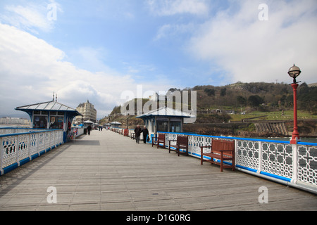 The Pier, Llandudno, Conwy County, North Wales, Wales, United Kingdom, Europe - Stock Photo