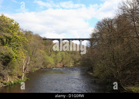 Pontcysyllte Aqueduct, Llangollen, Dee Valley, Denbighshire, North Wales, Wales, United Kingdom, Europe - Stock Photo