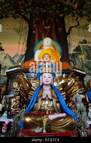 Buddha statues, Tu An Buddhist temple, Saint-Pierre-en-Faucigny, Haute Savoie, France, Europe - Stock Photo