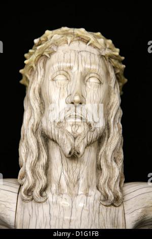 Christ sculpture in Notre-Dame de Paris cathedral Treasure Museum, Paris, France, Europe - Stock Photo