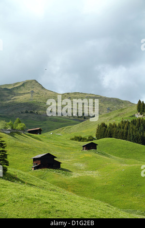 Alpine Landscape in the Canton Graubünden, Switzerland - Stock Photo