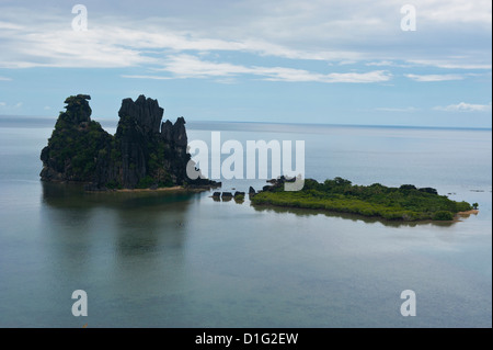 The linderalique rocks in Hienghene on the East coast of Grande Terre, New Caledonia, Melanesia, South Pacific, - Stock Photo