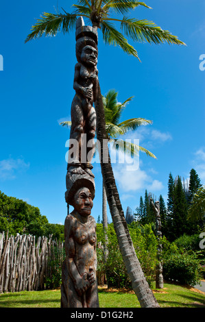 Tjibaou cultural center in Noumea, New Caledonia, Melanesia, South Pacific, Pacific Stock Photo