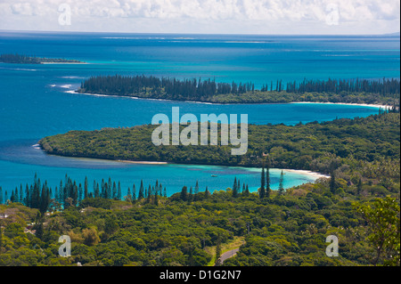 View over the Ile des Pins, New Caledonia, Melanesia, South Pacific, Pacific - Stock Photo