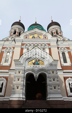 Alexander Nevsky Cathedral, a Russian Reviival style Orthodox church, by Mikhail Preobrazhensky, Toompea, Tallinn, - Stock Photo