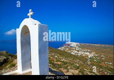 Oia (Ia), Santorini, Cyclades, Greek Islands, Greece, Europe - Stock Photo