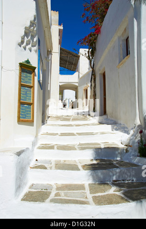 Traditional village of Lefkes, Paros, Cyclades, Aegean, Greek Islands, Greece, Europe - Stock Photo