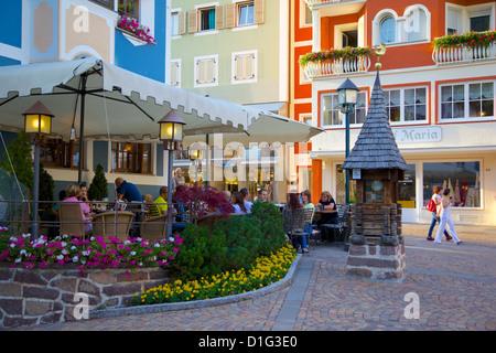 Cafe, Ortisei, Gardena Valley, Bolzano Province,Trentino-Alto Adige/South Tyrol, Italian Dolomites, Italy, Europe - Stock Photo