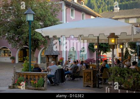 Cafe, Ortisei, Gardena Valley, Bolzano Province, Trentino-Alto Adige/South Tyrol, Italian Dolomites, Italy, Europe - Stock Photo