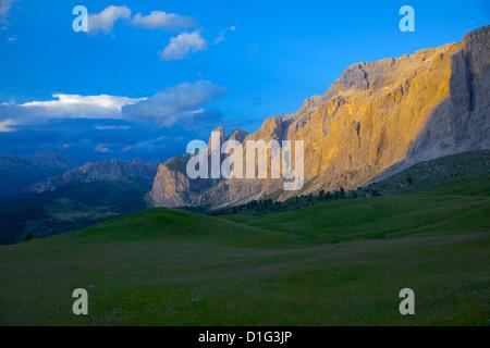 Sella Pass, Trento and Bolzano Provinces, Italian Dolomites, Italy, Europe - Stock Photo
