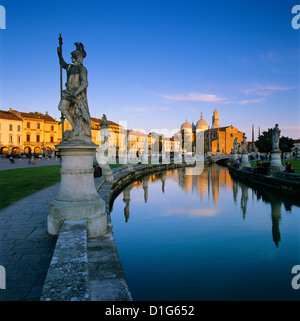Prato della Valle and Santa Giustina, Padua, Veneto, Italy, Europe - Stock Photo