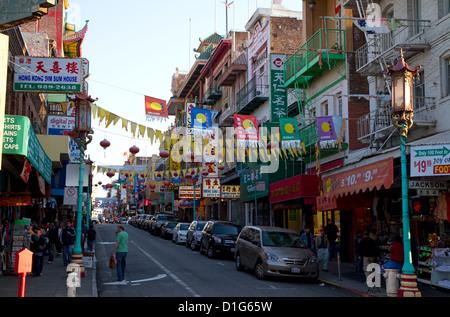 Chinatown of San Francisco, California, USA. - Stock Photo
