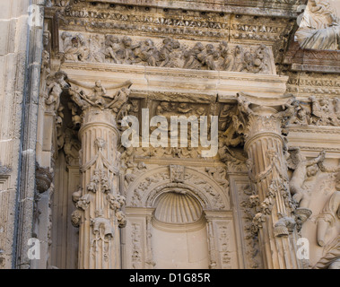 Capilla del Salvador in the UNESCO world heritage town of Ubeda, Andalusia Spain, a beautiful baroque church, detail - Stock Photo