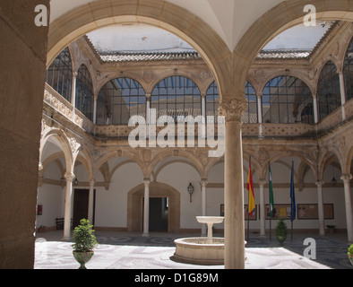 Ubeda in Andalusia Spain is a Unesco world heritage site with renaissance palaces and churches,  Hospital de Santiago - Stock Photo