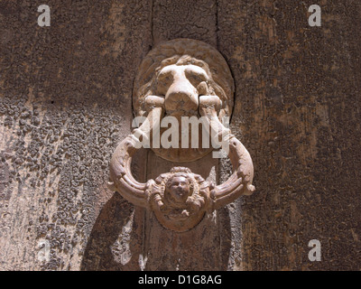 Ubeda in Andalusia Spain is a Unesco world heritage site with renaissance palaces and churches, door knocker on - Stock Photo