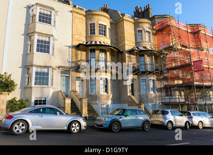 Property on Sion Hill opposite the Clifton Suspension Bridge in Bristol, England UK - Stock Photo