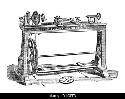 Antique Woodcut image 1872 origins fine vintage artwork - Stock Photo
