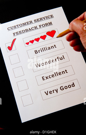 Funny Customer Service Feedback Form With Options For Rating