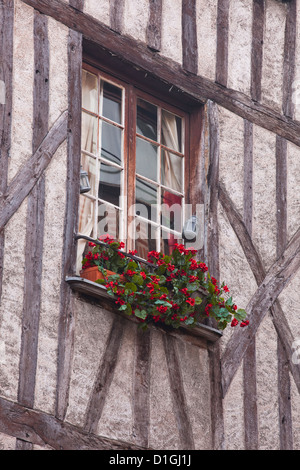A house in Vieux or Old Tours, Loire Valley, Tours, Indre-et-Loire, France - Stock Photo