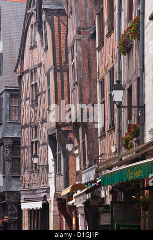 Houses in Vieux or Old Tours, Loire Valley, Tours, Indre-et-Loire, France - Stock Photo