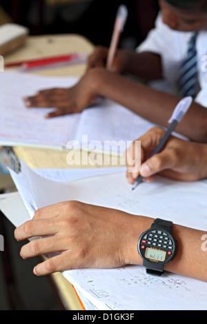 Vijayawada, India, students in the classroom - Stock Photo